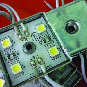 led module 4 bong 300x300 - Đèn led module vuông 4 bóng đế sắt
