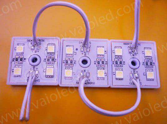 led vuong 4 bong 5050 de nhua 536x400 - Led module vuông 4 bóng 5050 đế nhựa
